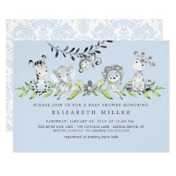 Damask Baby Shower Invitations