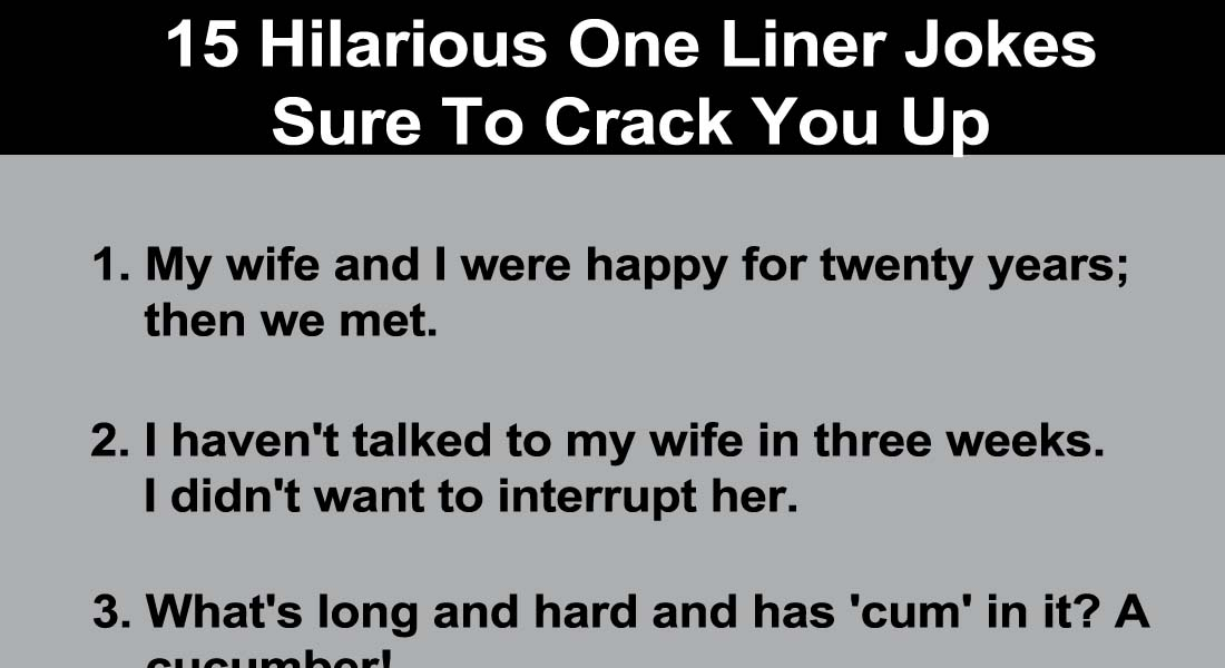 Hilarious Jokes One Liners