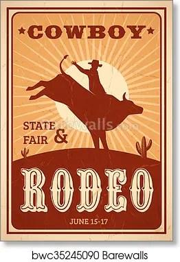 advertisement rodeo poster art print poster
