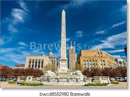 mckinley monument on niagara square in buffalo ny usa art print poster