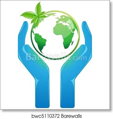 Save Earth Art Print Barewalls Posters Prints Bwc5110372