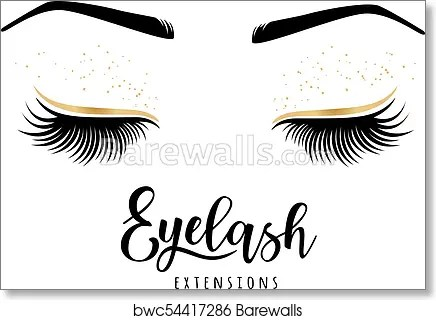 eyelash extensions logo art print poster