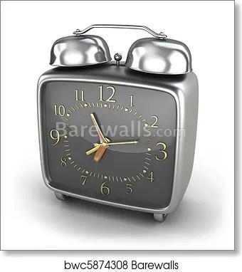 Alarm Clock Old Style Isolated Art