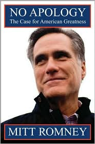 No Apology by Mitt Romney: Book Cover