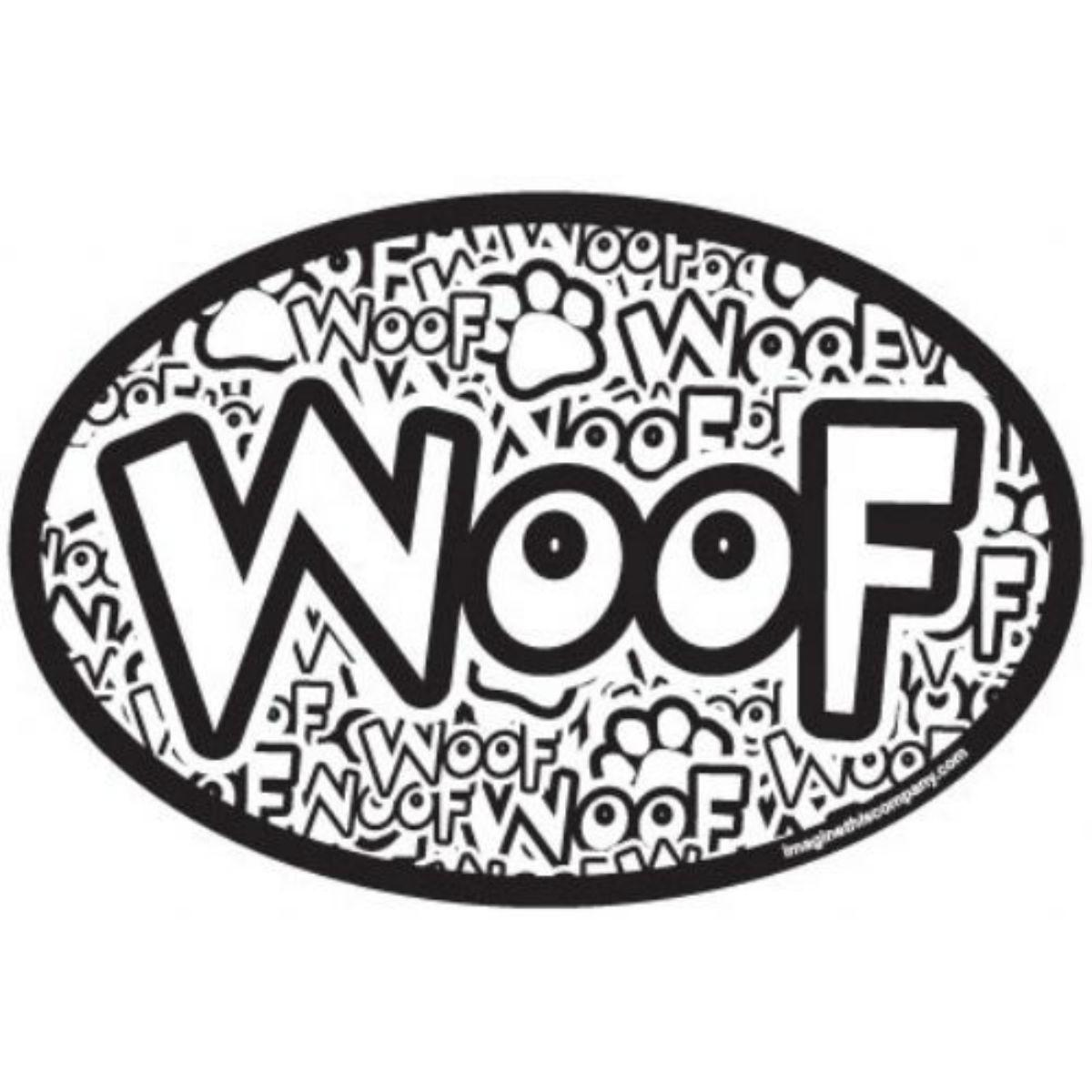 Woof Crazy Oval Magnet With Same Day Shipping