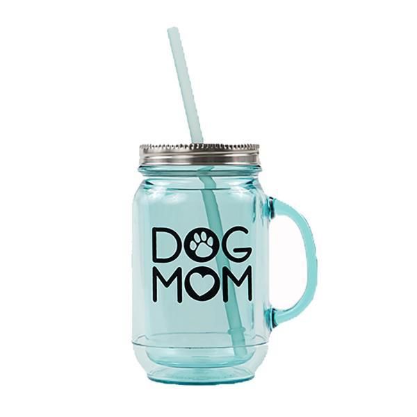 """Dog Mom"" Acrylic Mason Jar Mug by Dog Speak with Same Day ..."