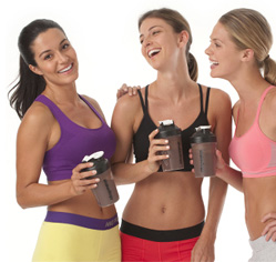 Women Drinking non-Vegan Shakeology