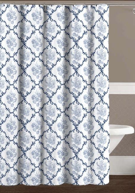 chd home textiles trellis seashell shower curtain with hooks