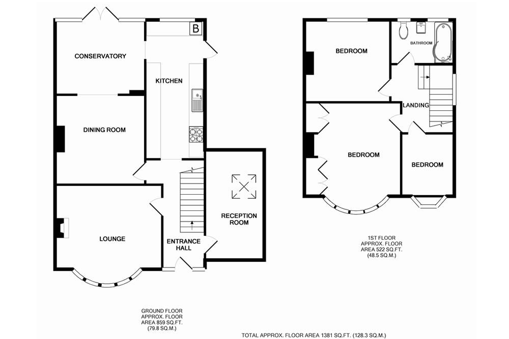 3 bedroom semi detached house plans uk for Semi attached house plans