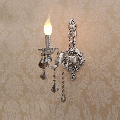 Gorgeous European Style Wall Sconce Features Decorative ... on Silver Wall Sconces For Candles id=78015
