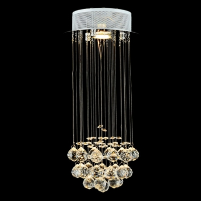 Round Stainless Steel Canopy Floating Crystal Ball 7 8