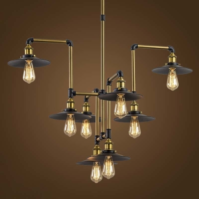 Style 8 Light Large Led Pendant Chandelier Commercial Coffee Bar Lighting Fixture