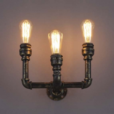 8'' H Antique Bronze 3 Light Pipe LED Wall Sconce Indoor ... on Led Interior Wall Sconces id=87196