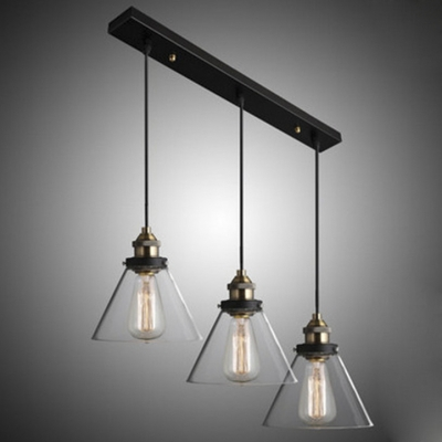 7 09 glass shade industrial multi light pendant bar lighting