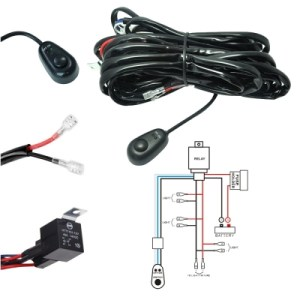 LED Light Bar Wiring Harness Kit 180W 12V 40A Fuse Relay ONOFF Waterproof Switch 4 Lead 2 Meter