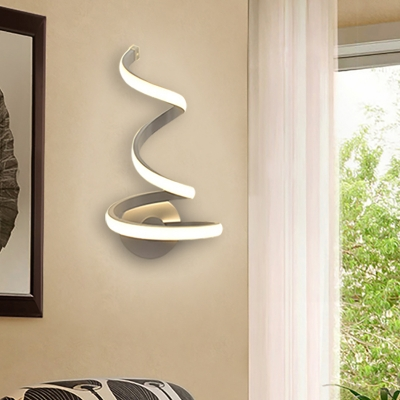 Decorative Modern Curved Led Wall Light 21W/24W White ... on Led Interior Wall Sconces id=23644