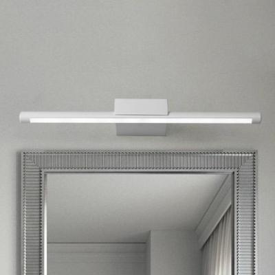 satin white tube vanity light antifogging waterproof 9w 16w over mirror bathroom vanity lighting in acrylic shade 4 sizes for option