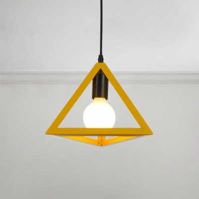 industrial colorful triangle drop light metal 1 led suspension light for commercial space