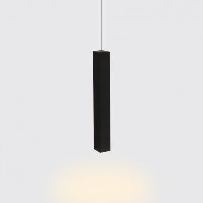 matte black tube track pendant lights modern metal 1 light led hanging lights for bedside kitchen