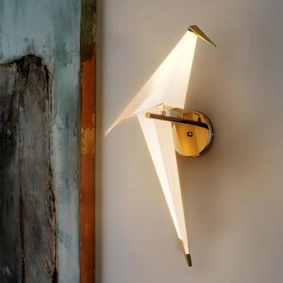 Bird Shape Wall Sconce Stylish Modern Plastic Small Wall ... on Small Wall Sconce Light id=77027