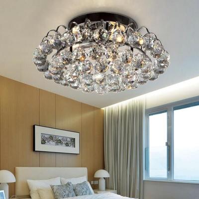 living room ceiling lighting clear crystal ball vintage style semi flush mount light 8 5 high x 16 in diameter
