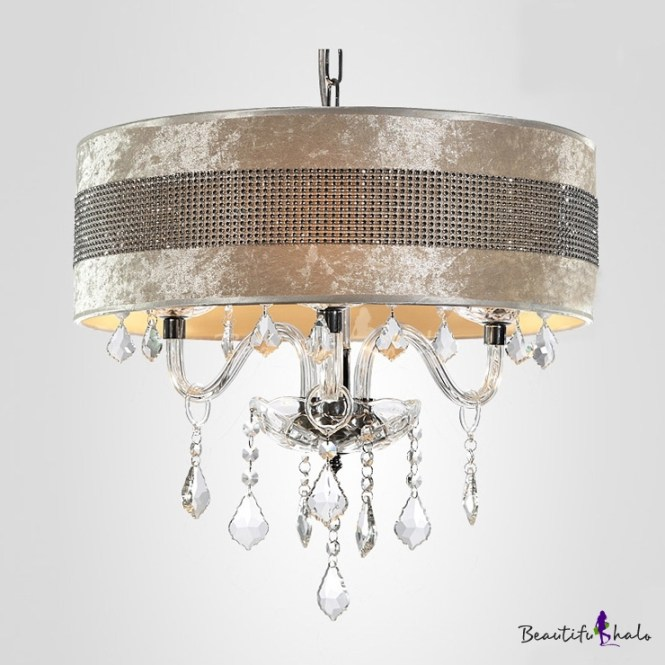 Stunning Plastic Crystal Embedded Shade Clear Droplets Chandelier Ceiling Light Beautifulhalo