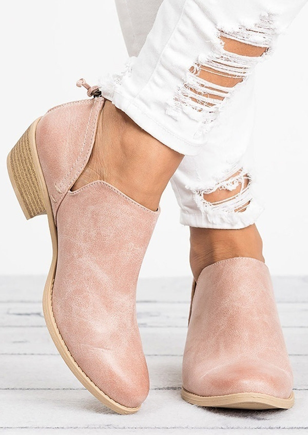 Solid Round Toe Flats