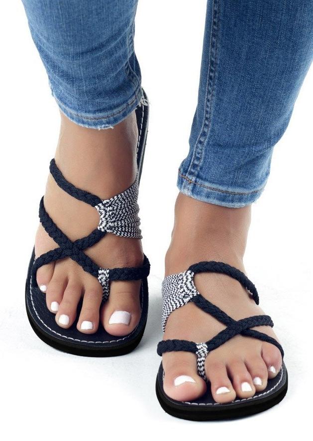 Summer Splicing Flat Sandals