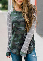 Camouflage Striped T-Shirt Tee