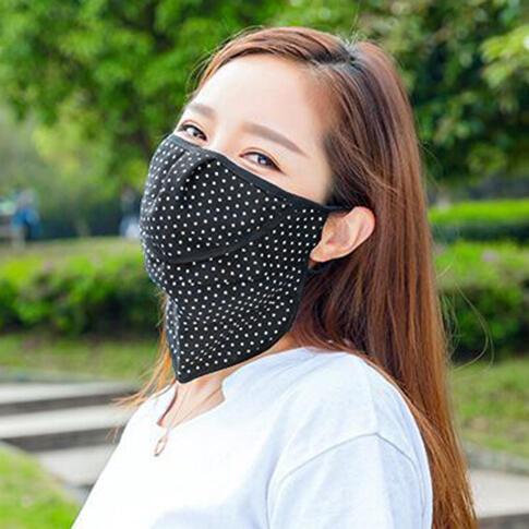 Anti-Dust Breathable Anti-Sunburn Polka Dot Face Mask