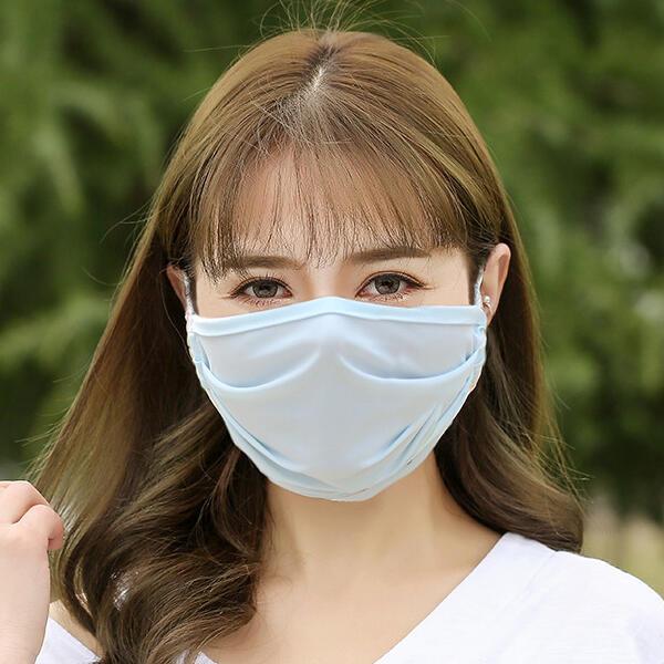 Summer Sunscreen Anti-Dust Ice Silk Face Mask