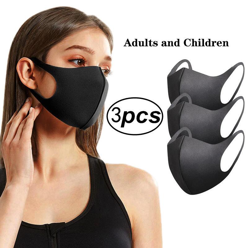 3 Pcs/Set Reusable Washable Breathable Face Mask