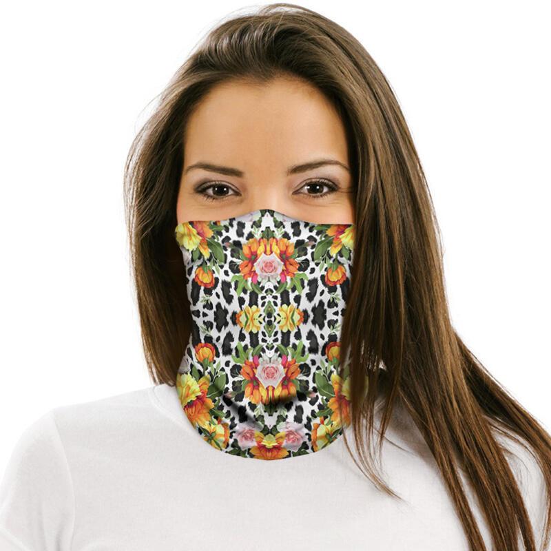 Multi-Functional Sunflower Elastic Face Scarf Headband