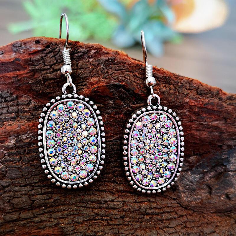 Fashion Colorful Rhinestone Alloy Earrings