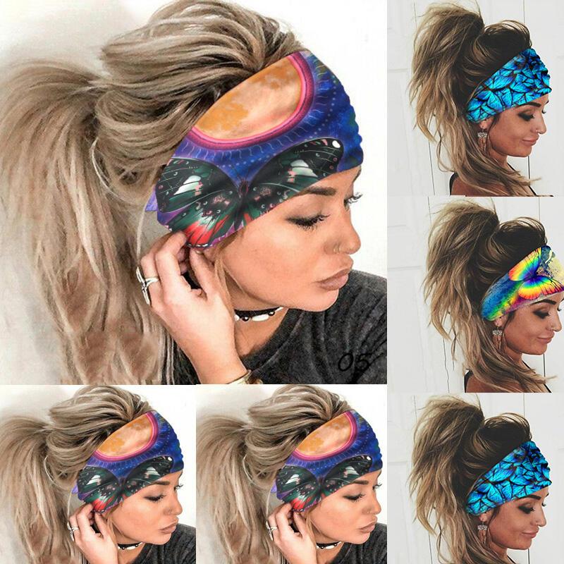 Colorful Butterfly Elastic Yoga Sports Headband