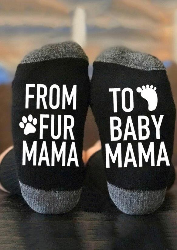 From Fur Mama To Baby Mama Paw Socks