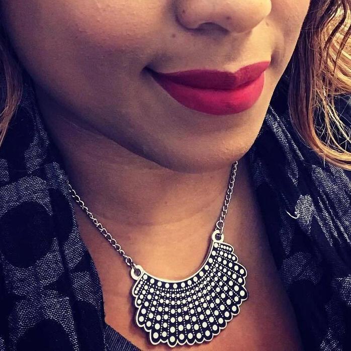 XL Edition Asymmetric Pendant Dissent Collar Alloy Necklace
