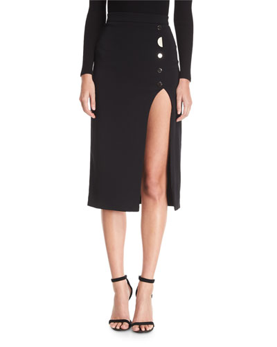 Dahlia Button-Side Slit Skirt