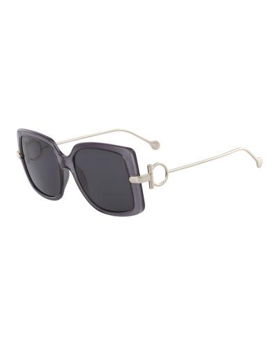 a90530867792 Gancino Rectangle Plastic & Metal Sunglasses