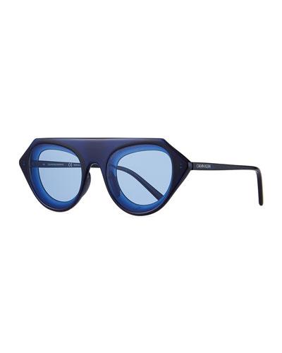491c786231e2 Chunky Oval Acetate Sunglasses