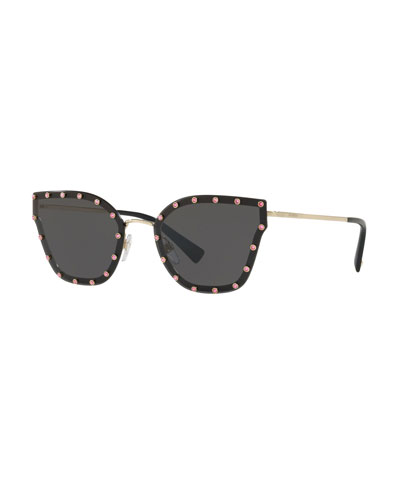 8658031913fe Crystal Embellished Butterfly Sunglasses