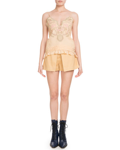 Inverted Pleat Cotton Shorts and Matching Items