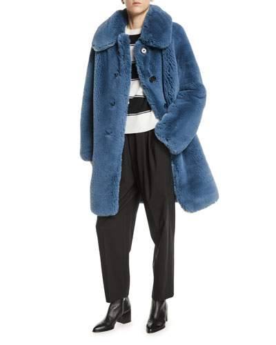Chubby Plush Coat w/ Collar and Matching Items