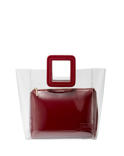 Shirley Clear PVC and Patent Tote Bag