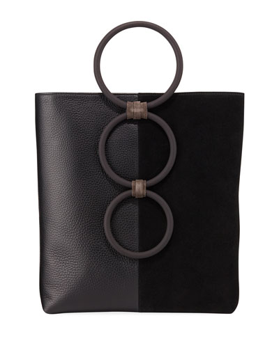 Petra Mini Leather Suede Ring Tote Bag 5f25b281b9ddb