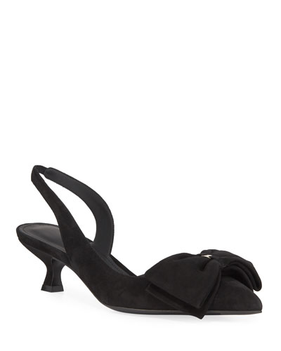 Reda Slingback Pumps with Floppy Bow & Vara Hardware