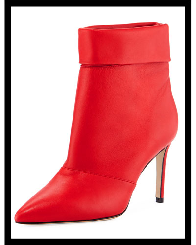 Banner Fold-Over Leather Booties