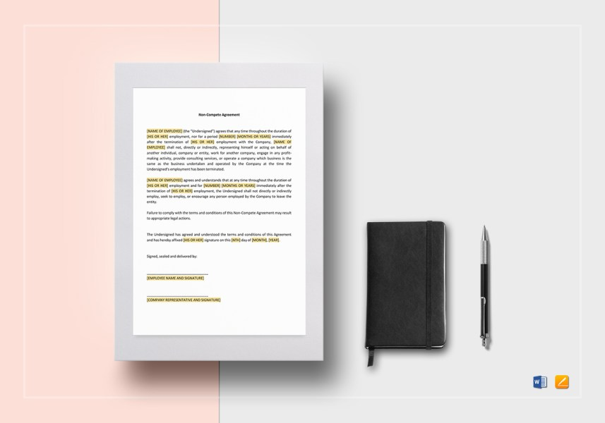 Non compete Agreement Template in Word  Google Docs  Apple Page Non compete Agreement Template