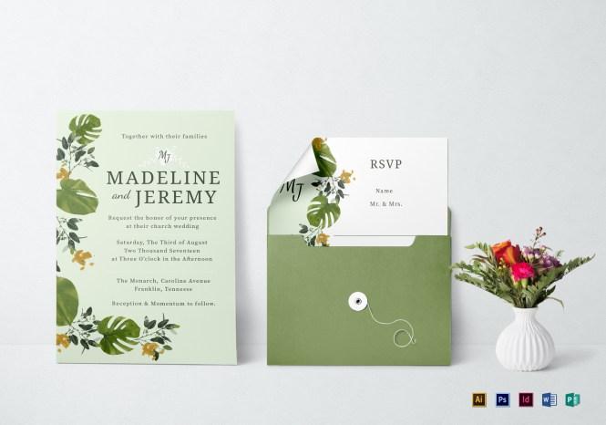 Church Wedding Invitation In Landscape And Portrait