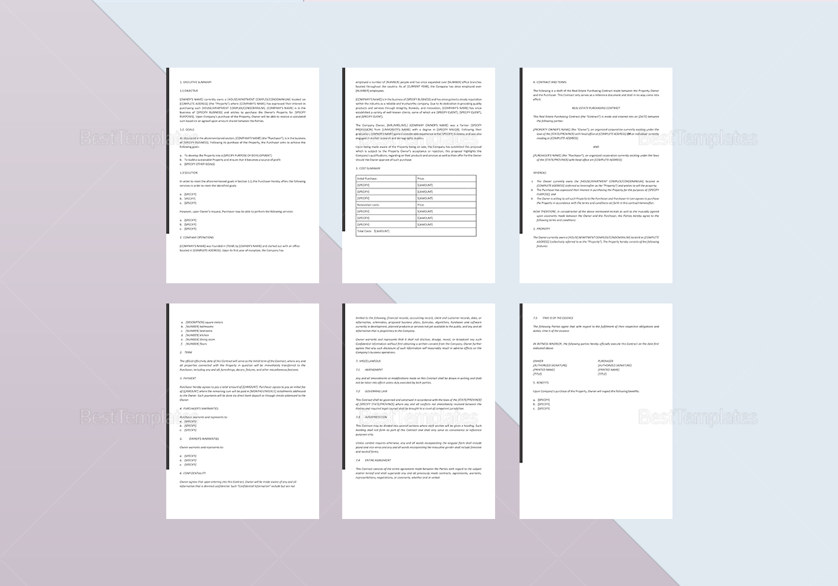 This real estate investment business plan sample has unveiled the basic requirements for writing your business plan. Real Estate Investment Proposal Template In Word Google Docs Apple Pages